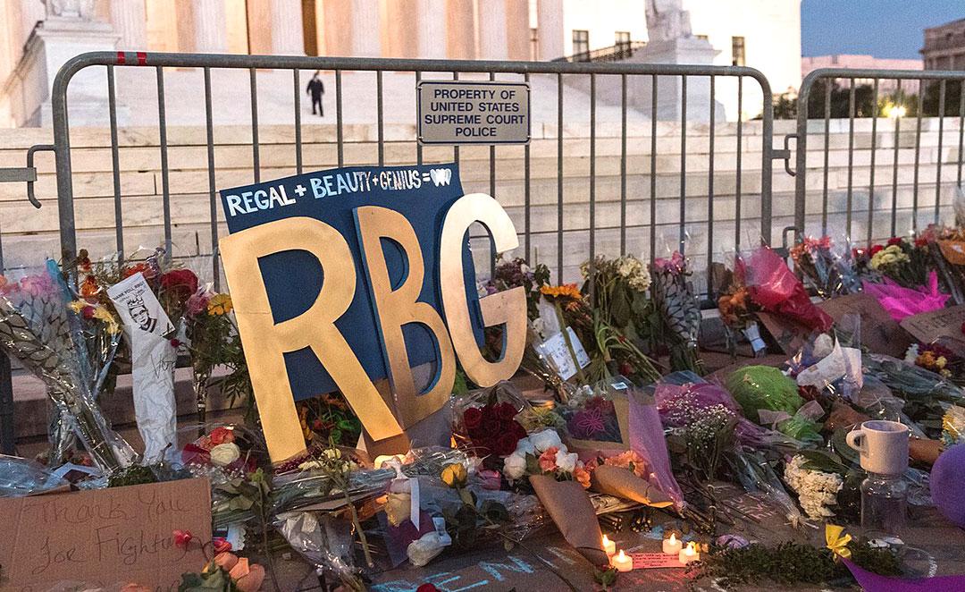 Vigil For Ruth Bader Ginsburg At Supreme Court Yash Mori