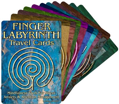 Finger Labyrinth Cards Small White