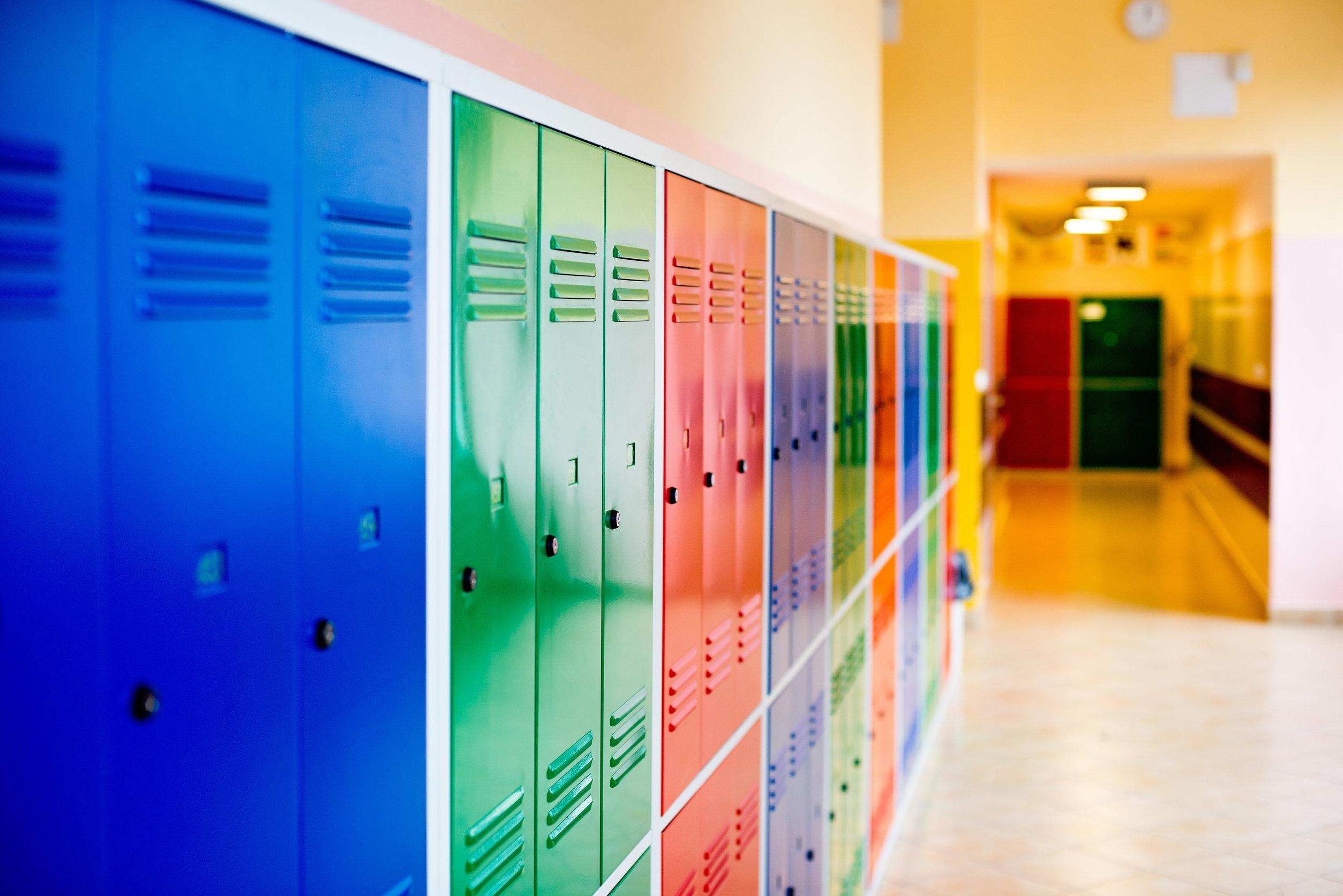 Colorful Metal Lockers